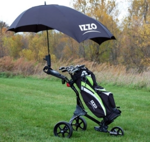 Golf Push Cart With Umbrella